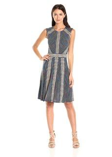 BCBG Max Azria BCBGMax Azria Women's Rosalya Knit Fit and Flare Dress  L