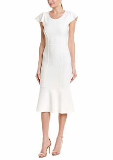 BCBG Max Azria BCBGMax Azria Women's Short Sleeve Fluted Bodycon Dress  S