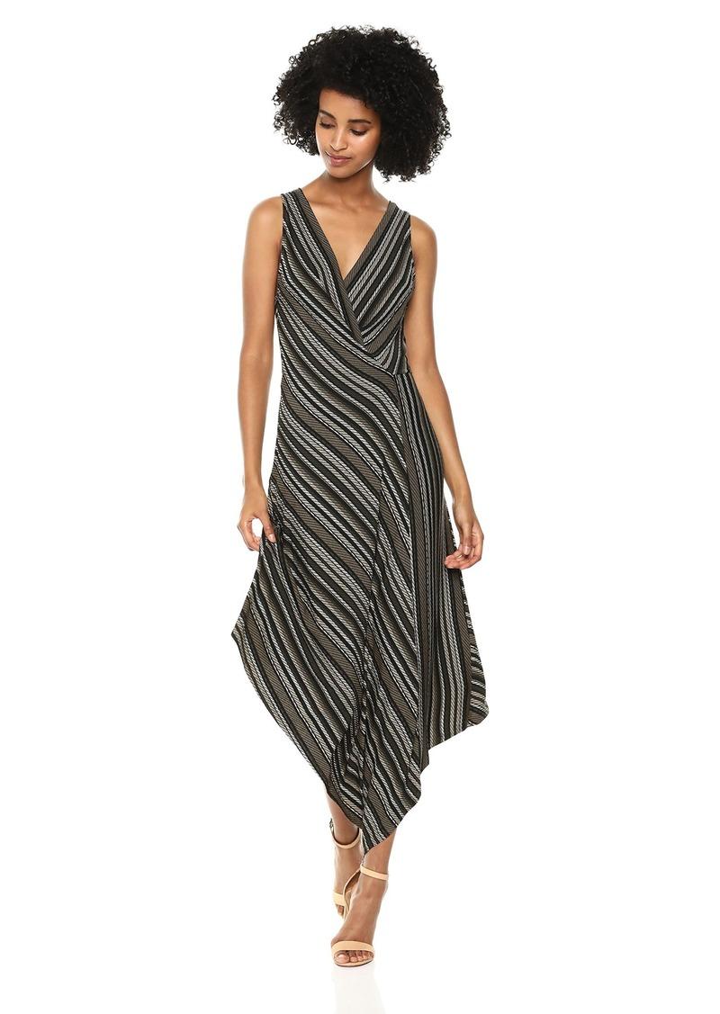 BCBG Max Azria BCBGMax Azria Women's Sleeveless Asymmetrical Faux-Wrap Dress  XS