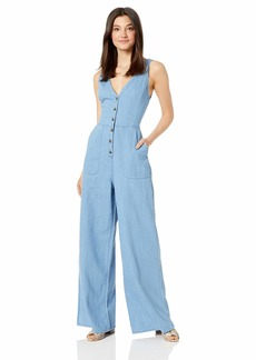 BCBG Max Azria BCBGMax Azria Women's Sleeveless Button Front Jumpsuit  S