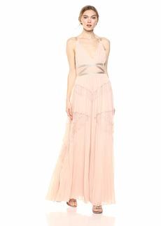 BCBG Max Azria BCBGMax Azria Women's Sleeveless Lace Inset Pleated Gown