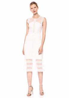 BCBG Max Azria BCBGMax Azria Women's Sleeveless Lace Inset Sheath Dress  S