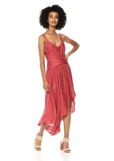 BCBG Max Azria BCBGMax Azria Women's Sleeveless Lace-up Asymmetrical Dress  M