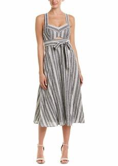 BCBG Max Azria BCBGMax Azria Women's Stripe Cutout Midi Dress