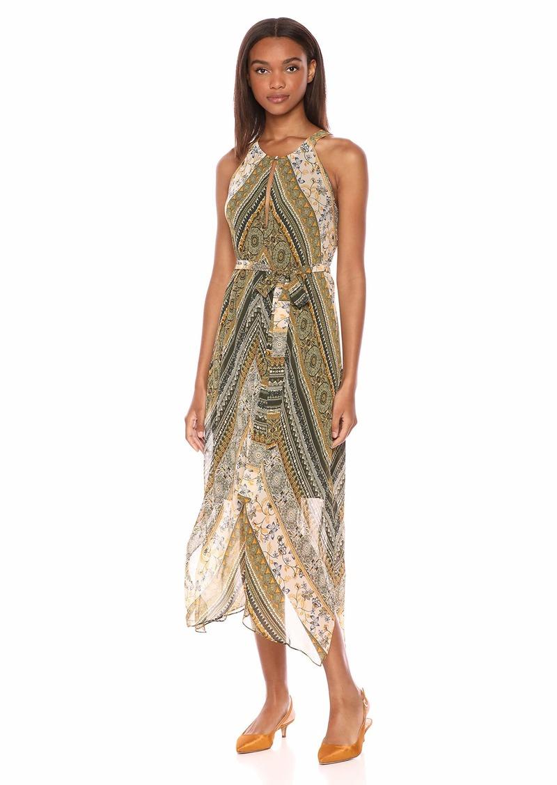 BCBG Max Azria BCBGMax Azria Women's Stripe Sleeveless Handkerchief Dress  S
