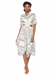 BCBG Max Azria BCBGMax Azria Women's Striped Cutout Handkerchief Dress