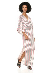 BCBG Max Azria BCBGMax Azria Women's Striped Faux-Wrap Maxi Dress  M