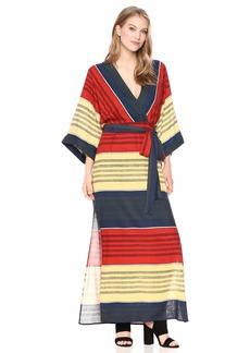 BCBG Max Azria BCBGMax Azria Women's Striped Faux Wrap Maxi Dress  S