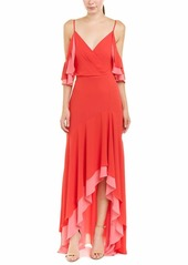 BCBG Max Azria BCBGMax Azria Women's Surplice High-Low Evening Dress LIPSTICKREDCOMB