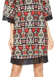 BCBG Max Azria BCBGMax Azria Women's Tati Floral-Embroidered Shift Dress  S