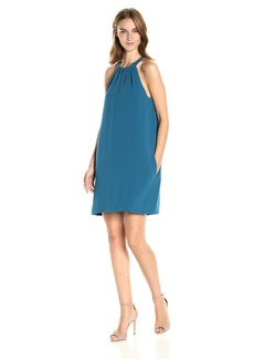 BCBG Max Azria BCBGMax Azria Women's Tristyn Short Halter Woven Cocktail Dress  L