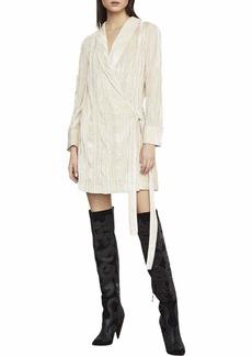 BCBG Max Azria BCBGMax Azria Women's Velvet Tunic Wrap Robe Dress  S