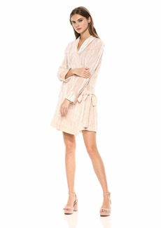 BCBG Max Azria BCBGMax Azria Women's Velvet Tunic Wrap Robe Dress  L