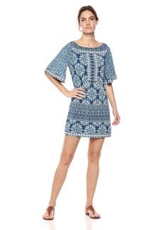 BCBG Max Azria BCBGMax Azria Women's Vintage Floral Tile Patchwork A-Line Dress  XS