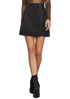 BCBG Max Azria Bcbgmaxazria A-Line Skirt With Faux-Leather Trim