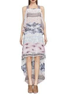 BCBGMAXAZRIA Aaric Floral Asymmetrical Dress