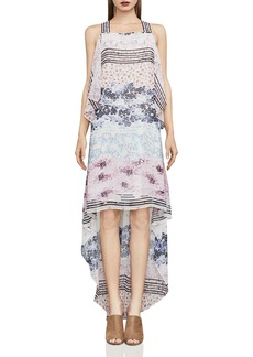 BCBGMAXAZRIA Aaric Floral Print High/Low Dress