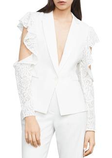BCBG Max Azria BCBGMAXAZRIA Abel Cold-Shoulder Lace Blazer