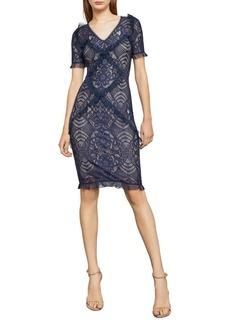 BCBG Max Azria BCBGMAXAZRIA Abstract Floral Lace Sheath Dress