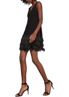 BCBG Max Azria Bcbgmaxazria Addilyn Fringe-Trim Shift Dress