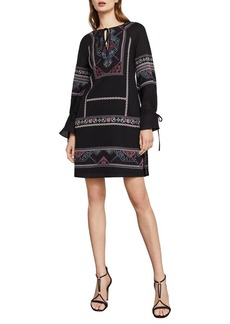 BCBG Max Azria BCBGMAXAZRIA Aicha Embroidered Cotton Dress