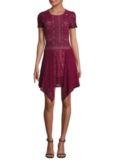 BCBGMAXAZRIA Aileen Floral Lace Dress