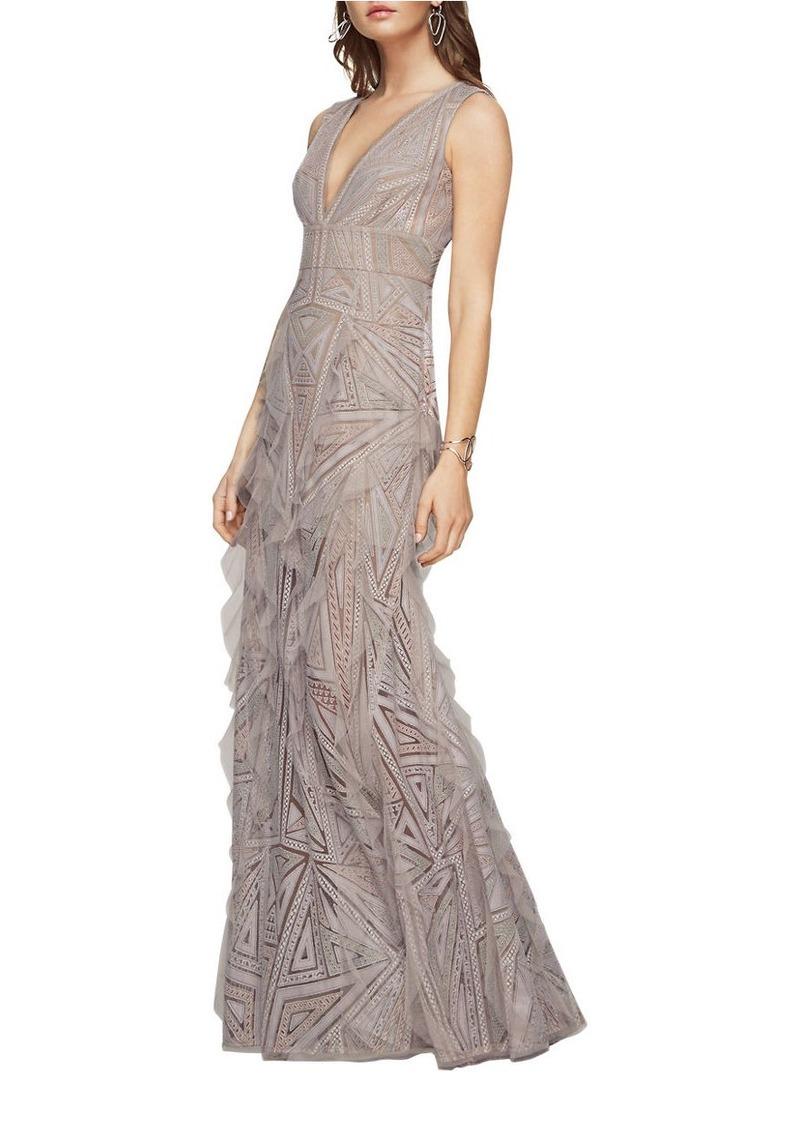 Lo lo lord and taylor party dresses - Bcbg Max Azria Bcbgmaxazria Aislinn Geometric Lace Gown