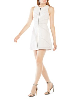 BCBGMAXAZRIA Alaina Faux Suede Zip Front Dress