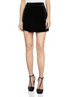 Bcbgmaxazria Albie Velvet Mini Skirt