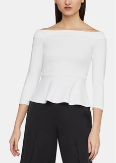 BCBG Max Azria Bcbgmaxazria Alea Off-The-Shoulder Peplum Top