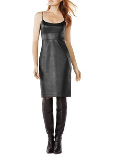 BCBGMAXAZRIA Alese Faux Leather Dress