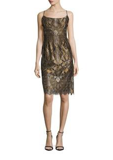 BCBGMAXAZRIA Alese Squareneck Sheath Dress