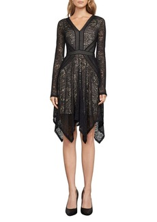 BCBGMAXAZRIA Alex Lace Handkerchief Dress