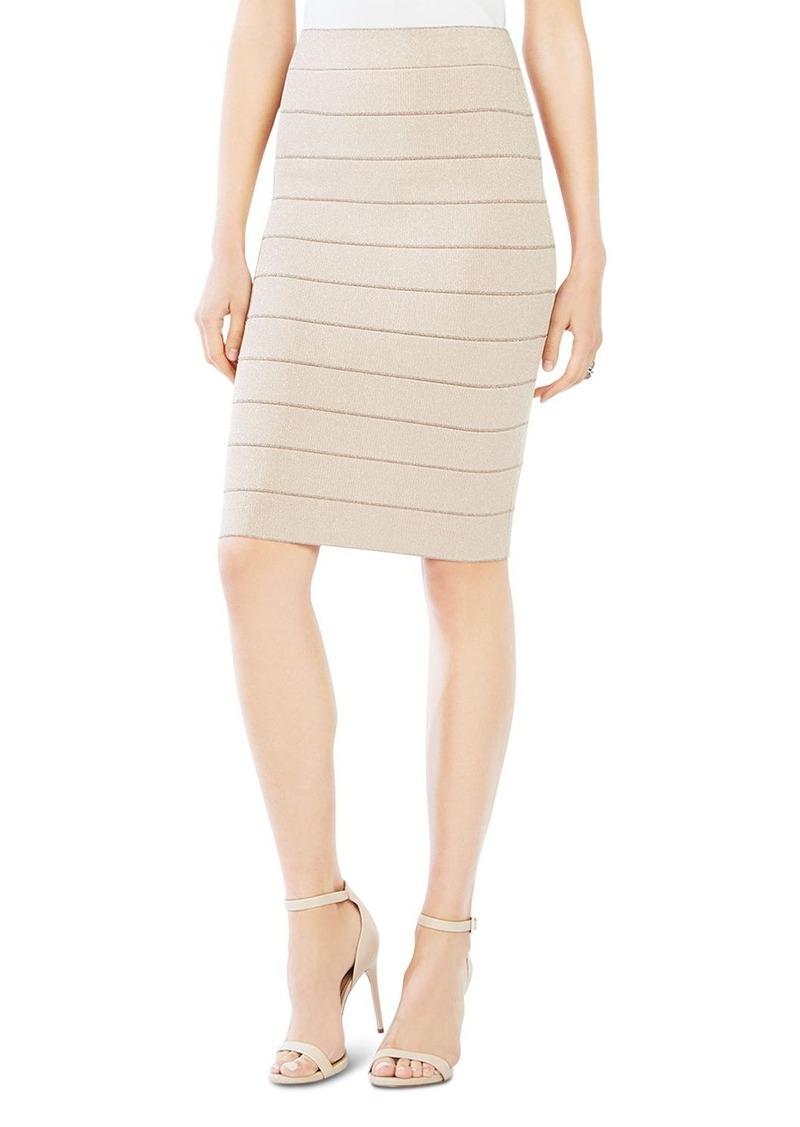 8282c7547f BCBG Max Azria BCBGMAXAZRIA Alexa Metallic Bandage Skirt | Skirts