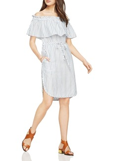 BCBGMAXAZRIA Alexis Striped Off-the-Shoulder Dress