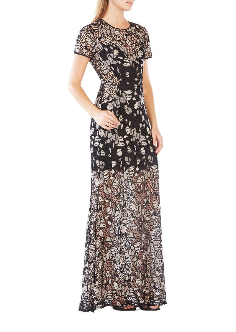 BCBG Max Azria BCBGMAXAZRIA Alexus Embroidered Lace Gown