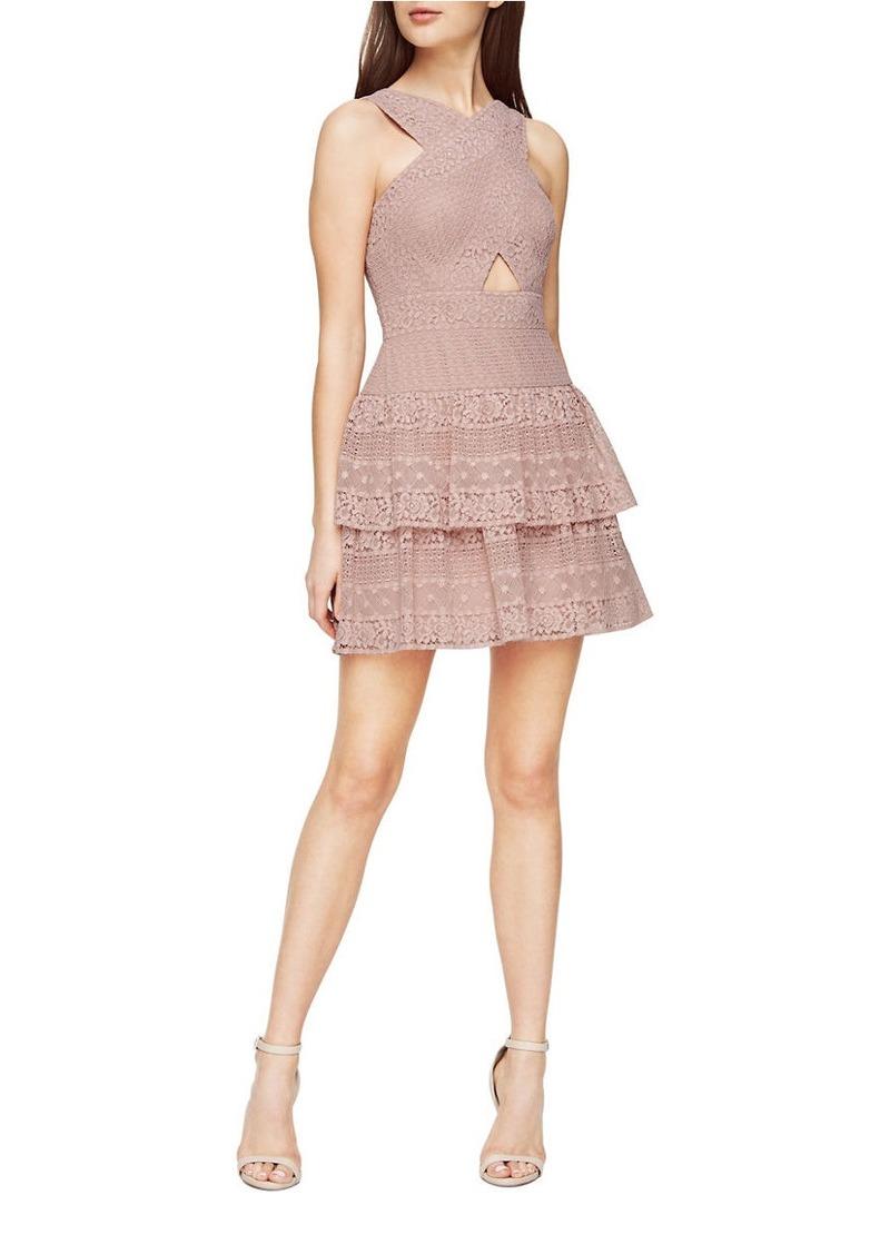 0cccc543458 BCBG Max Azria BCBGMAXAZRIA Alissa Ruffled Lace Dress