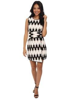 BCBGMAXAZRIA Alivia Wrap Waist Asymmetrical Hem Dress