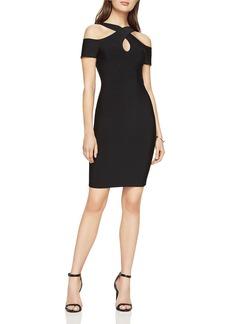 BCBGMAXAZRIA Alley Cold-Shoulder Halter Dress