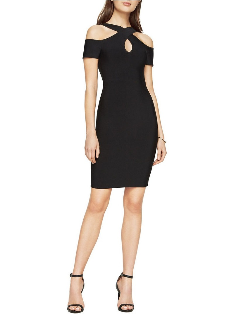 fcc1c57c9ca BCBG Max Azria BCBGMAXAZRIA Ally Cold-Shoulder Bodycon Dress