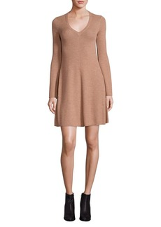 BCBG Max Azria Althea Merino Wool Knit A-Line Dress