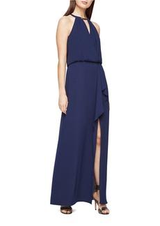 BCBGMAXAZRIA Amanda Plate Collar Gown