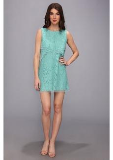 BCBGMAXAZRIA Amelie Sleeveless Lace Drape Dress