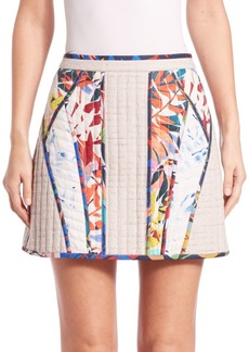 BCBG Max Azria Andrick Quilted Patchwork Miniskirt