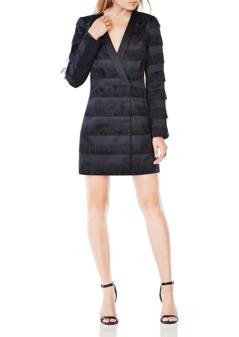 Bcbg Max Azria Bcbgmaxazria Anika Fringe Jacket Dress