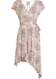 BCBG Max Azria Bcbgmaxazria Animal-Print Asymmetrical Dress