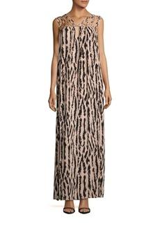 BCBGMAXAZRIA Animal Printed Strappy Gown