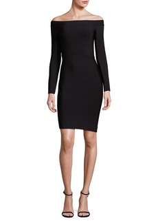 BCBGMAXAZRIA Annabeth Off-The-Shoulder Bodycon Dress
