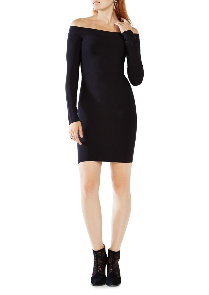 BCBG Max Azria BCBGMAXAZRIA Annabeth Off-the-Shoulder Dress