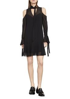 BCBGMAXAZRIA Arieta Cold-Shoulder A-Line Dress